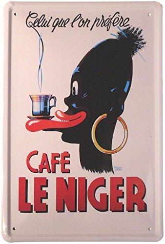 Tin Sign Cartel de Chapa 20 x 30 cm Cafe le Niger Publicidad ...