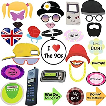 Amazon com: 90s Party Photo Booth Props Throwback Decoration 90's