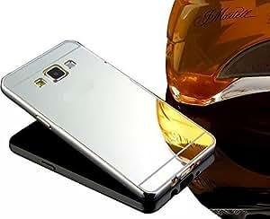Sunnycase® Para Samsung Galaxy A5 A5009 (2015) Premium PC Bumper Funda Aluminio carcasa plata Metal Mirror Bumper phone case dura cubierta alta calidad Protección cover Marco Tapa Para Samsung Galaxy A5 A5009 + espejo espalda