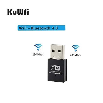 KuWFi Adaptador USB inalámbrico, 600 m de banda Daul USB ...
