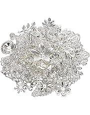 50 g 100 g blandad metall blomma filigran wraps kontakter järnhantverk gör-det-själv guld silver grossist berlocker smycken tillverkning komponenter gör-det-själv