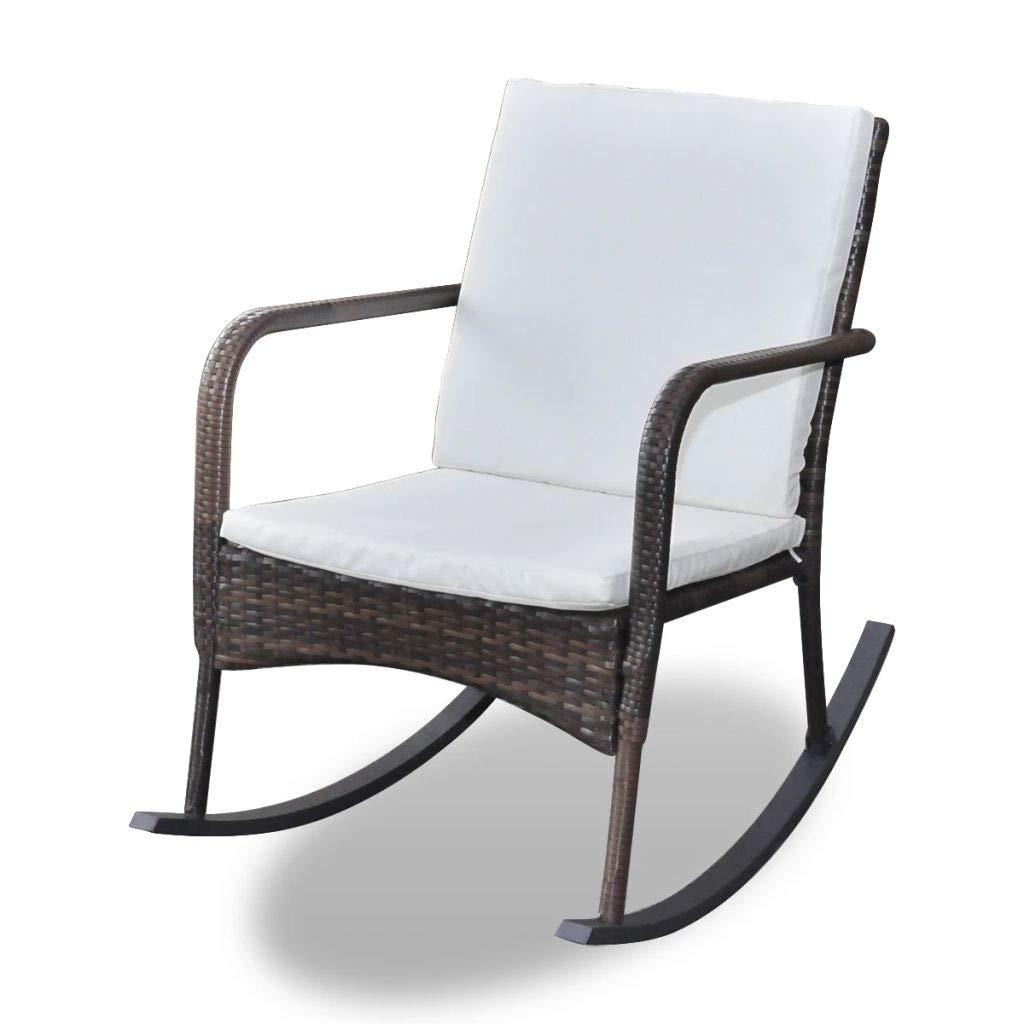 jskjlkl Garden Relaxing Recliner Lounge Rocking Chair by jskjlkl