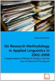 On Research Methodology in Applied Linguistics In 2002-2008, Andrey Martynychev, 3639282957