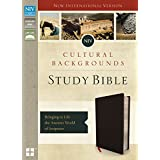 NIV, Cultural Backgrounds Study Bible, Bonded Leather, Black, Indexed, Red Letter Edition: Bringing to Life the Ancient World of Scripture