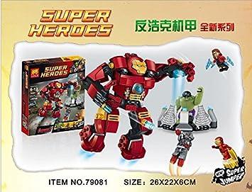 Amazon.com: Bebé Juguete Bloques Lele 79081 Super Heroes ...