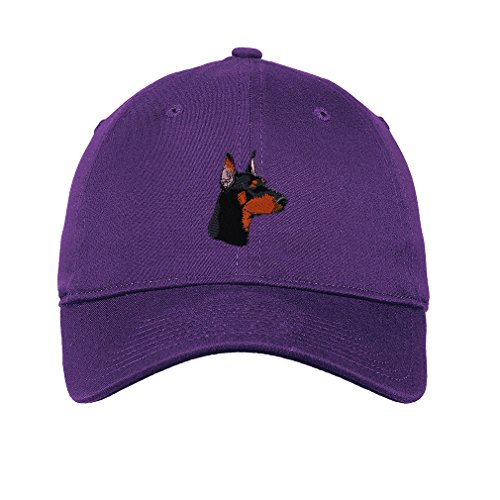 Doberman Head Embroidered Soft Low Profile Hat