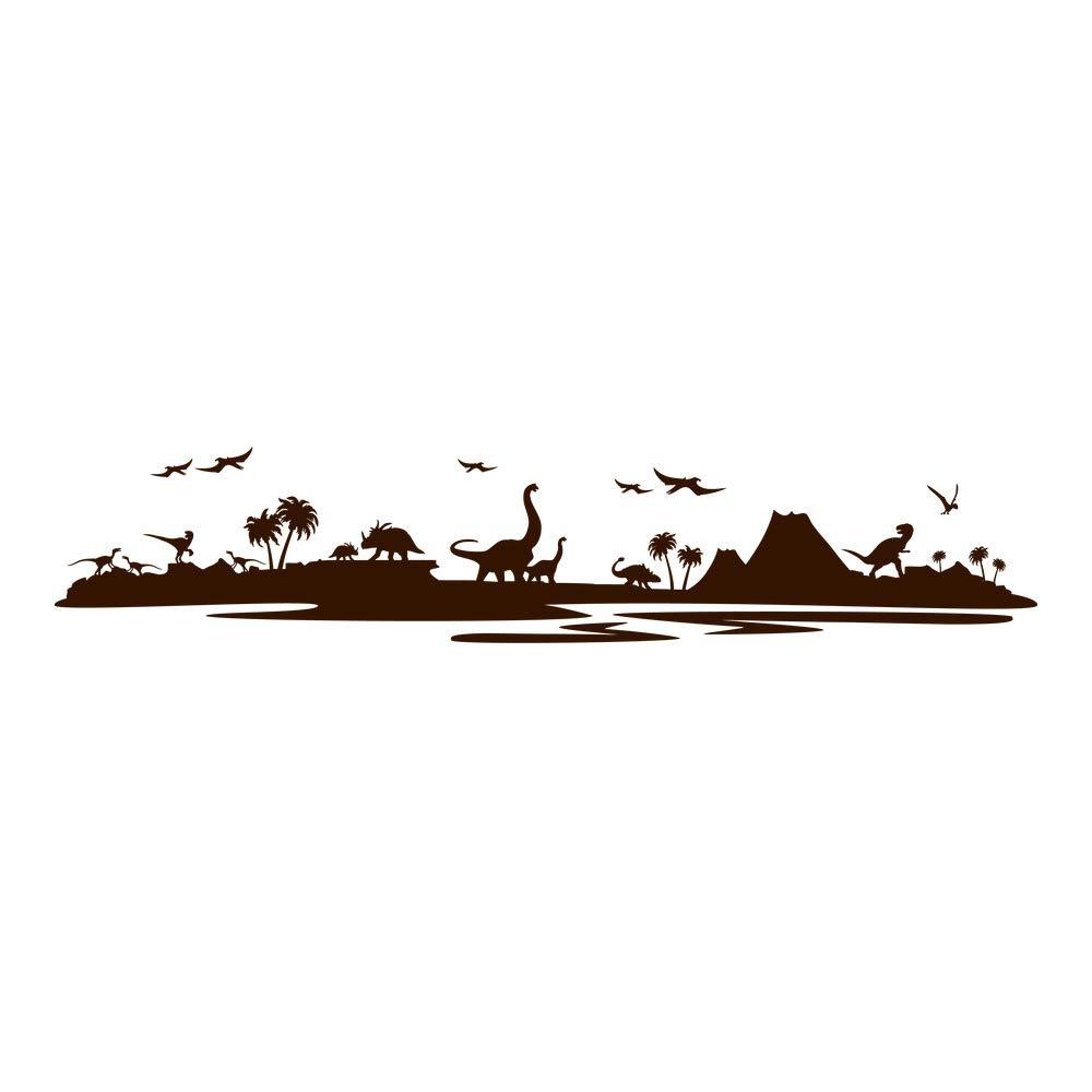 Azutura Dinosaurier-Landschaft Wandtattoo Jurassic Park Wand Wand Wand Sticker Kinder Schlafzimmer Haus Dekor verfügbar in 5 Größen und 25 Farben X-Groß Wolke Grau B00DOH9KRA Wandtattoos & Wandbilder 21c37f