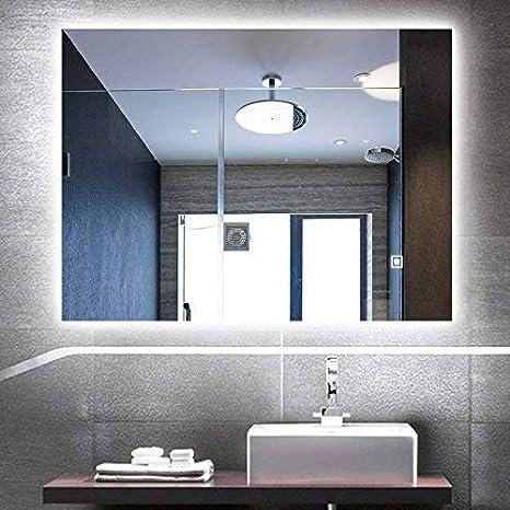 Amazon Com Hans Alice Large Rectangular Vintage Bathroom Mirror Luxurious Baroque Wooden Frame Wall Mounted Vanity Mirror Silver 35 5 27 6 Home Kitchen