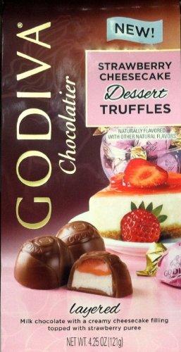 Godiva Chocolatier Strawberry Cheesecake Dessert Truffles-Pack of 2 Bags