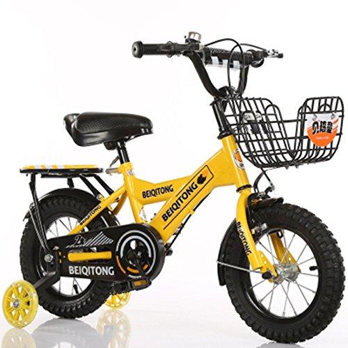子供の自転車、少年の自転車の女の子クリエイティブ自転車有人自転車後部座席がある衝撃安全自転車足首自転車を減らす (色 : イエロー いえろ゜, サイズ さいず : 115CM) B07D2FC1LB 115CM イエロー いえろ゜ イエロー いえろ゜ 115CM