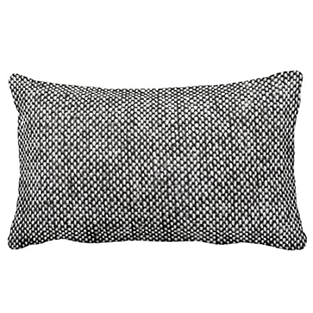 Uoopoo Charcoal Gray Tweed Fabric Texture Pattern Throw Pillow Case