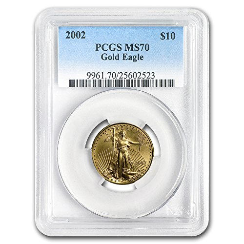 2002 1/4 oz Gold American Eagle MS-70 PCGS Gold MS-70 PCGS