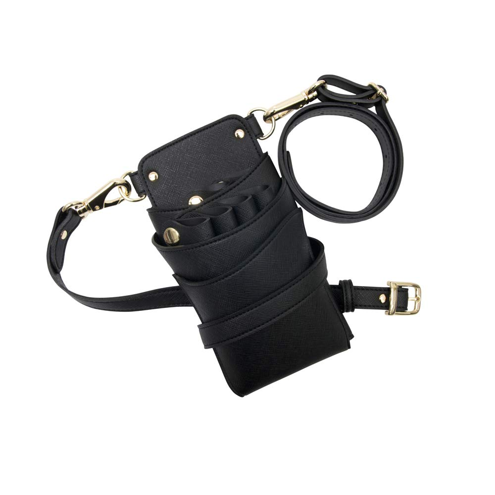 DEEDS 国内シザーケース専門メーカー シエーナ no.286 サフィアーノ風ブラック 46丁入れ B07H5G326J