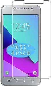 VacFun 4 Piezas Filtro Luz Azul Protector de Pantalla para Samsung Galaxy J2 Prime Grand Prime Plus, Screen Protector Sin Burbujas Película Protectora (Not Cristal Templado) Anti Blue Light Filter