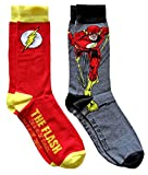 DC Comics The Flash Men's Crew Socks 2 Pair Pack Shoe Size 6-12
