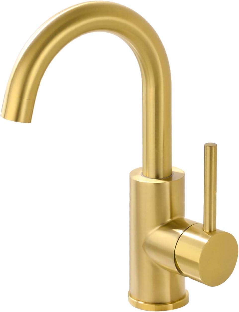 Brushed Gold Kitchen Sink Faucet