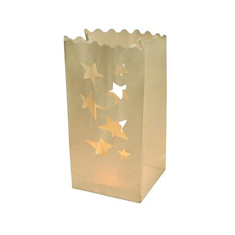 EUTOPICA Pack de 10 Bolsas de luz Estrellas (Luminarias ...
