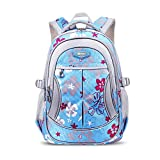 UrChoiceLtd 2017 RUIPAI Children's Pupils Backpack School Bags 1-3-6 Grades 6-13 Year-Old Boy / Girl Shoulder Schoolbag College Lightening care Guards Waterproof Burdens Backpacking (3-6 Grade, Blue)