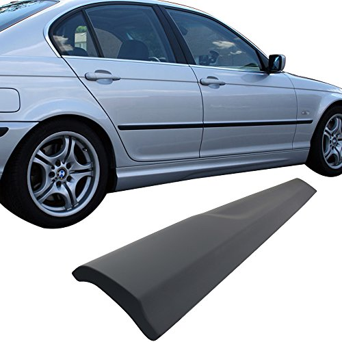 Side Skirts Fits 1999-2005 BMW E46 3 Series | Black PP M-Tech M Sport Left Hand Right Hand Underboard Extension Replacement by IKON MOTORSPORTS | 2000 2001 2002 2003 2004