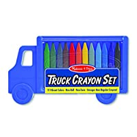 Melissa & Doug Truck Crayon Set - 12 Colors (Great Gift for Girls and Boys - Best for 3, 4, 5, 6, 7 Year Olds and Up)