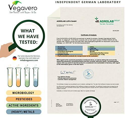 BIO Yodo Natural Vegavero® | 150 mcg=100% CDR | Sin Aditivos Artificiales | Procedente de Algas Marinas | Tiroides + Drenaje + Metabolismo* | 180 Cápsulas | Hipotiroidismo | Thyroid Energy: Amazon.es: Salud y cuidado personal