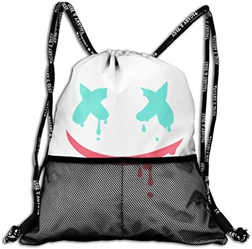 マシュメロ Marshmello2 ナップサック アウトドア ジムサック 防水仕様 バッグ 巾着袋 スポーツ 収納バッグ 軽量 バッグ 登山 自転車 通学・通勤・運動 ・旅行に最適 アウトドア 収納バッグ 男女兼用 ジムサック バック
