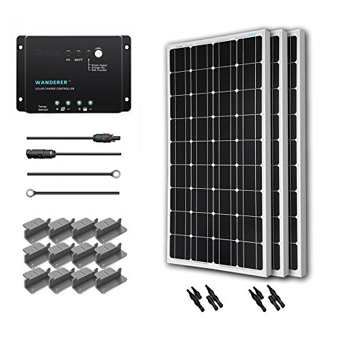renogy-300-watts-12-volts-monocrystalline-solar-starter-kit-with-wanderer-negative-grounded
