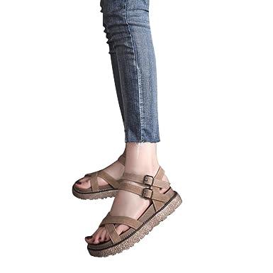 Damen Sommer Flach Sandalen Btruely Frauen Flip Flops Thong