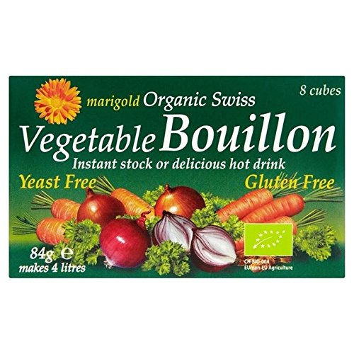 Marigold Organic Yeast Free Bouillon Cube Green 87g - Pack of 6