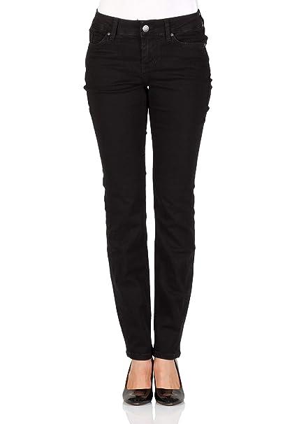 848bee45fb93 Mustang Damen Jeans Jasmin Slim Fit - Schwarz - Midnight Black  Amazon.de   Bekleidung