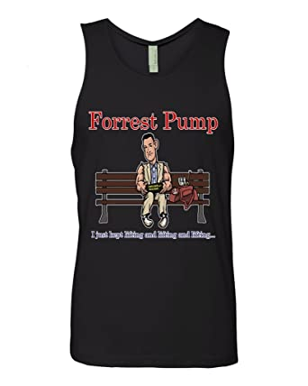 e0c9cc4c69cc9 Amazon.com  Forrest Pump - Funny Lifting Tank Top Shirt Unisex Gym Workout  Apparel  Clothing