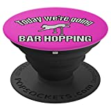 Agility Dog Bar Hopping Pink - PopSockets Grip and Stand for Phones and Tablets