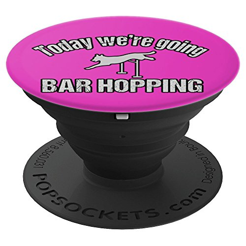 Agility Dog Bar Hopping Pink - PopSockets Grip and Stand for Phones and Tablets by PT Accessories