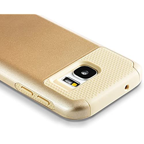 Galaxy S7 Case, technext020 Dual Layer Hybrid Protective Cover for Gold Samsung Galaxy S7 Shockproof Bumper Hard Sales