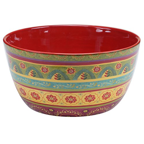 "Certified International 22462 Tunisian Sunset Deep Bowl, 11"" x 5.5"", Multicolor"