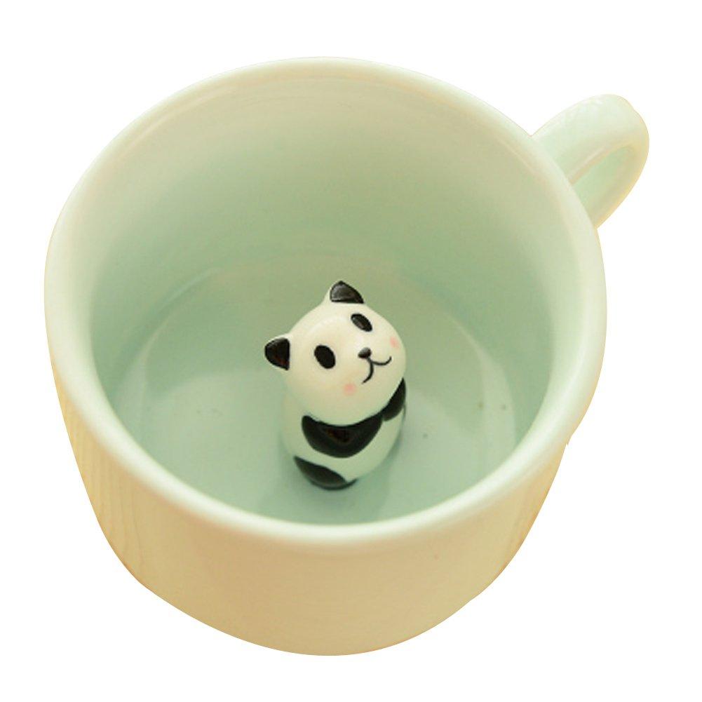 Cute Panda Cartoon Ceramic Mug Coffee Cup Black Temptation