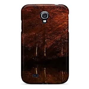 STWanke OrGwMSf4266SMfqe Case Cover Galaxy S4 Protective Case Nature Forest Red Forest At Sunset