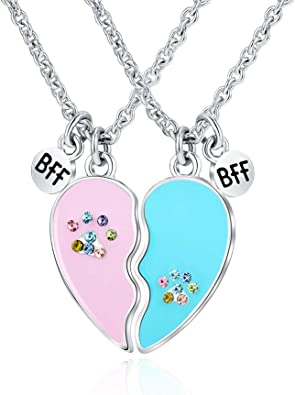 Friends gift for woman Best friend necklace Birthday gifts for best friend heart necklace and personalized birthday card