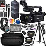 Canon XA15 Compact Full HD Camcorder with Deluxe Accessory Bundle - Includes: Audio-Technica VHF TwinMic System + Sony MDR-7506 Headphones + SanDisk Extreme PRO 128GB SD Card + More
