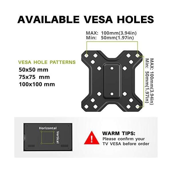 51EaaQjRKVL USX-MOUNT Monitor/TV Halterung für Wohnmobil/RV/Campingwagen, passend für 10-26 Zoll TVs mit VESA 50x50-100x100mm bis zu…