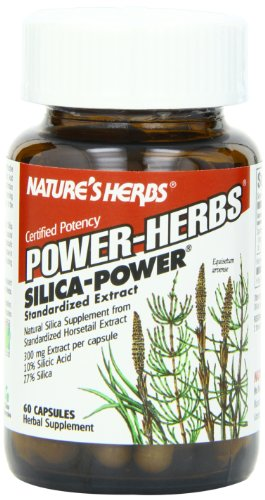 Twinlab Nature's Herbs Power-Herbs Silica-Power 300mg, 60 Capsules (Pack of 3)
