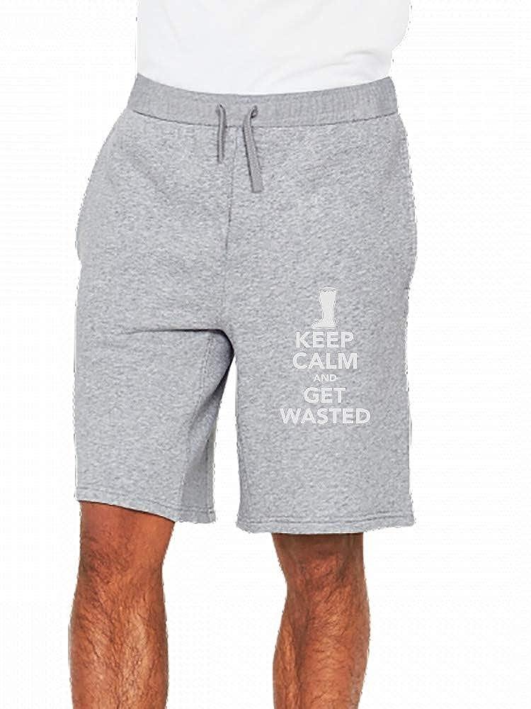 JiJingHeWang Get Wasted Mens Casual Shorts Pants