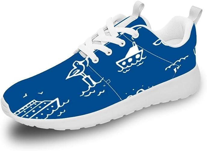 Mesllings Zapatillas de Running Unisex sin Costuras, diseño de Animales de Verano (Azul): Amazon.es: Zapatos y complementos