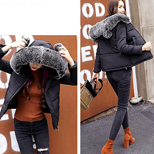 Women Casual Outwear Lammy Slim Down Black Winter Overcoat Short Thicker Coat Xinantime Jacket Hooded rqrI7Rw