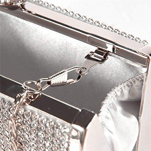 Clutches Bag Bag Bags Bag Ladies Diamond Chain As Shoulder Evening Clutch Hand Rising Long Shown1 Party Evening ON Rhinestone Banquet Tq7EwAXxz