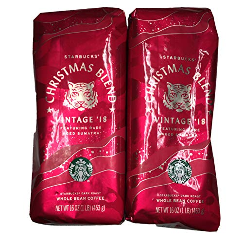 Starbucks - Roasted Whole Bean Coffee - 16 oz - Pack of 2 (Christmas Blend) ()