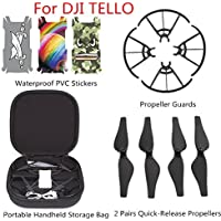 Waterproof PVC Stickers+Propeller Guards+Portable Handheld Storage Bag+2 Pairs Quick-Release Propellers for DJI TELLO