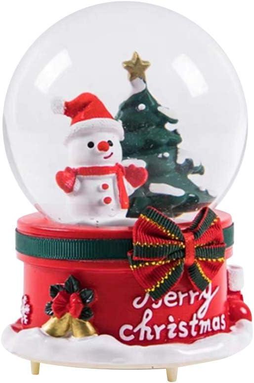 Bola de Cristal de Navidad Caja de música Nieve Flotante Campana ...