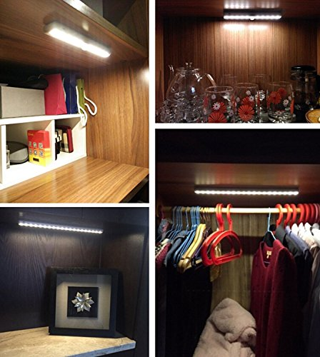 Ryham Dimmable LED Under Cabinet Lighting, 15inch, Warm White, 3000K, 3M and Magnet Mounted, USB Powered LED Closet Light Bar, Under Counter Lighting-8W by Ryham (Image #7)