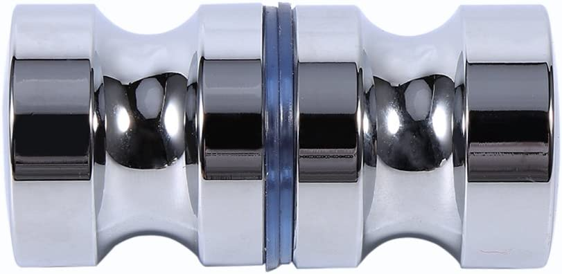 poign/ée dalliage daluminium de Cabine de Douche de Salle de Bains avec la vis Bouton de Porte en Verre Simple